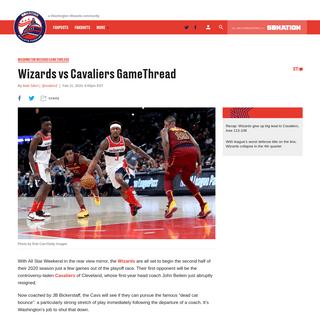 Wizards vs Cavaliers GameThread - Bullets Forever