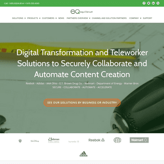 Equilibrium – Digital Transformation and Teleworker Solutions to Securely Collaborate and Automate Content Processes and Deliv