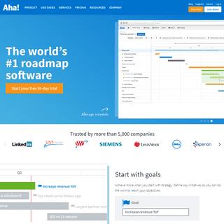 Aha! — The World's #1 Roadmap Software
