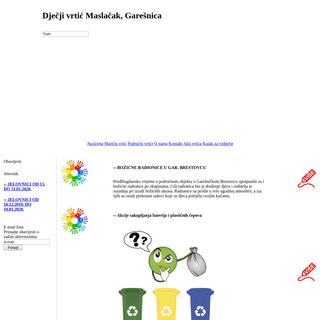 ArchiveBay.com - maslacak.com.hr - Dječji vrtić Maslačak, Garešnica