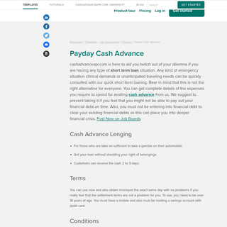 Payday Cash Advance - Advance Cash