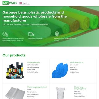 Garbage bags manufacturer