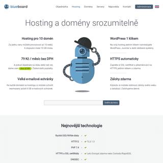 Blueboard.cz – webhosting pro více domén