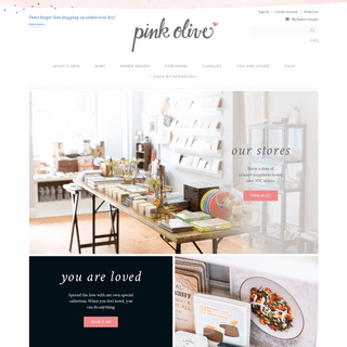 Pink Olive- whimsical gifts for happiness and home