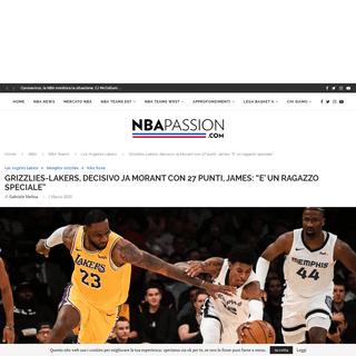 Grizzlies-Lakers- decisivo Ja Morant, LeBron James- -E' uno speciale-