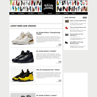 Sole Redemption - A sneaker blog dedicated to Air Jordans, Nike Air Force 1, Nike Dunk SB, and more. We deliver fresh sneaker ne