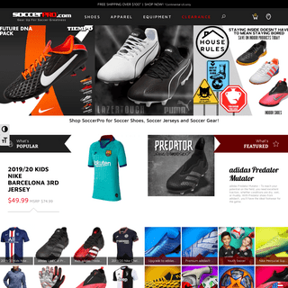 SoccerPro.com - Shop for Soccer Cleats, Shoes, Jerseys and More