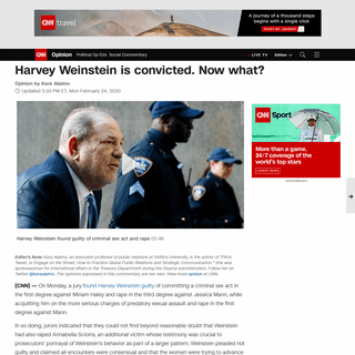 Harvey Weinstein is convicted. Now what- (opinion) - CNN