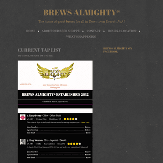 Brews Almighty® - The home of great brews for all in Downtown Everett, WA!