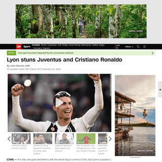 Cristiano Ronaldo- Lyon stuns Juventus - CNN