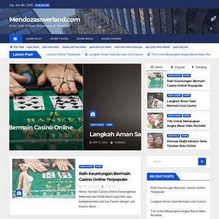 Mendozasoverland.com - Situs Judi Online Terpercaya & Teraman