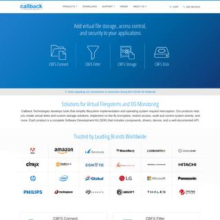 ArchiveBay.com - eldos.com - Callback Technologies - System-level components for data storage and access control