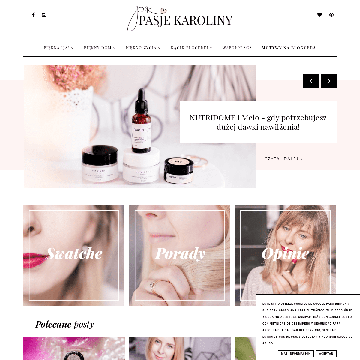 Pasje Karoliny - w poszukiwaniu piękna - blog lifestyle