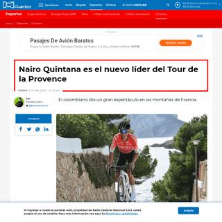 Nairo Quintana ganó tercera etapa del Tour de la Provence - RCN Radio