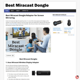 Best Miracast Dongle-Adapter for Screen Mirroring of 2020