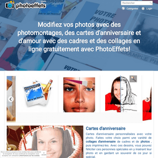 ArchiveBay.com - photoeffets.com - Montage photos en ligne. Cartes virtuelles et drapeau - Photoeffets
