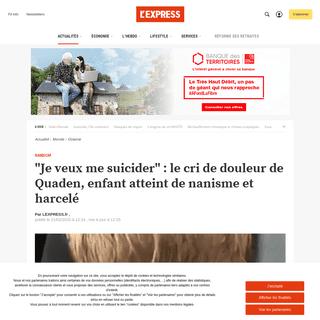 ArchiveBay.com - www.lexpress.fr/actualite/monde/oceanie/je-veux-me-suicider-le-cri-de-douleur-de-quaden-enfant-atteint-de-nanisme-et-harcele_2118961.html - -Je veux me suicider- - le cri de douleur de Quaden, enfant atteint de nanisme et harcelé - L'Express