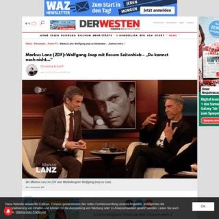 """Markus Lanz- Wolfgang Joop zu Moderator – """"Kannst nicht..."""" - derwesten.de"""