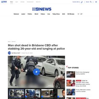 Brisbane shooting- Man shot dead in CBD, Queensland news