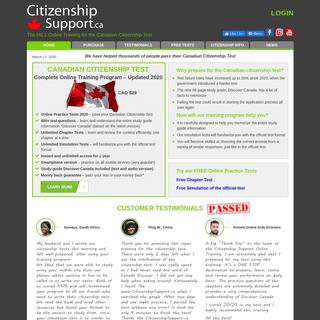 CANADIAN CITIZENSHIP TEST - Online Practice Tests 2020