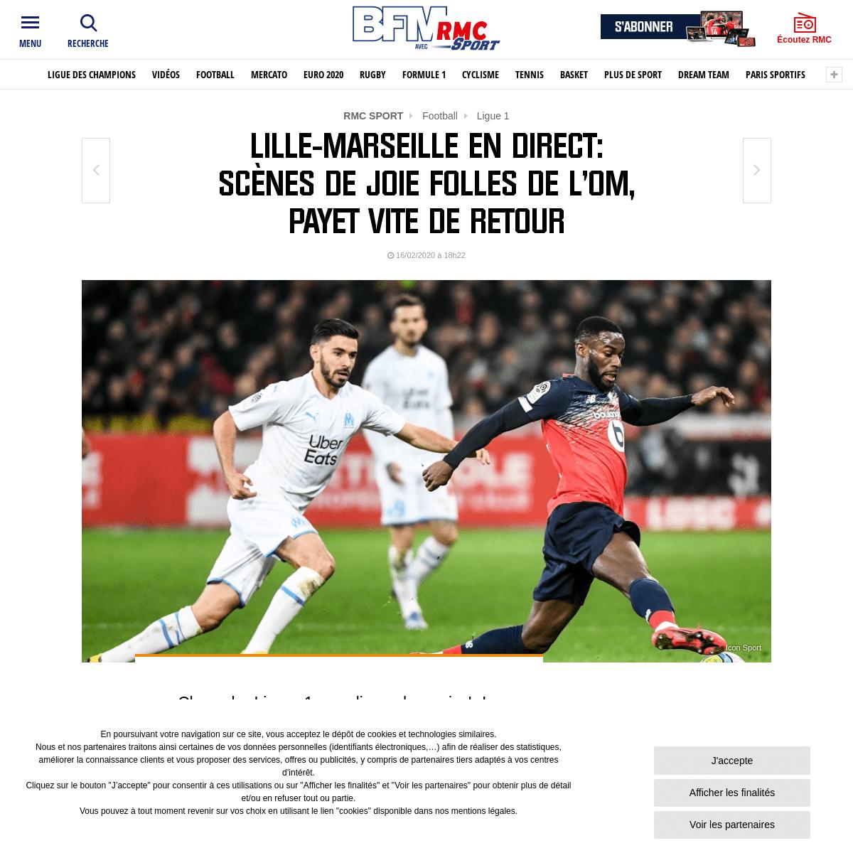 Lille-Marseille en direct- scènes de joie folles de l'OM, Payet vite de retour