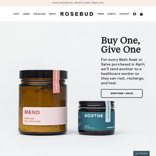 Rosebud CBD - Buy CBD Oil - Full Spectrum - Organic