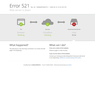 mariannemcdonald.net - 521- Web server is down