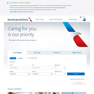 Airline Tickets and Airline Reservations from American Airlines - aa.com