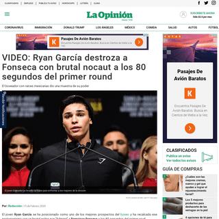 VIDEO- Ryan García destroza a Fonseca con brutal nocaut a los 80 segundos del primer round - La Opinión