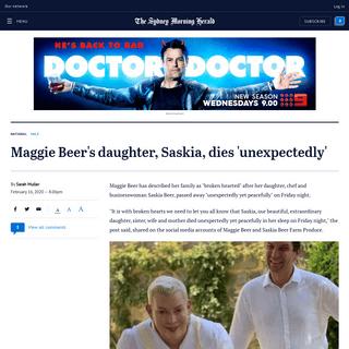 ArchiveBay.com - www.smh.com.au/national/maggie-beer-s-daughter-saskia-dies-unexpectedly-20200216-p541c0.html - Maggie Beer's daughter, Saskia, dies 'unexpectedly'