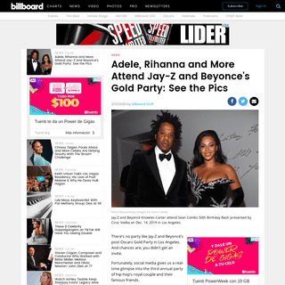 Attend Jay-Z and Beyonce's Gold Party- Adele, Rihanna and More Among Guests - Billboard