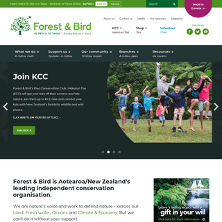Forest & Bird is Aotearoa-New Zealand's leading independent conservation organisation. - Forest and Bird