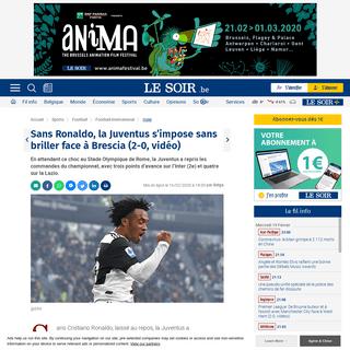 Sans Ronaldo, la Juventus s'impose sans briller face à Brescia (2-0, vidéo) - Le Soir