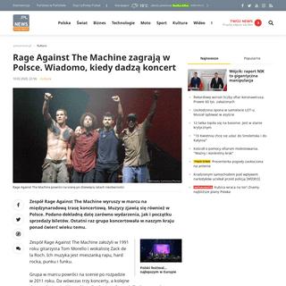 Rage Against The Machine zagrają w Polsce. Wiadomo, kiedy dadzą koncert - Polsat News