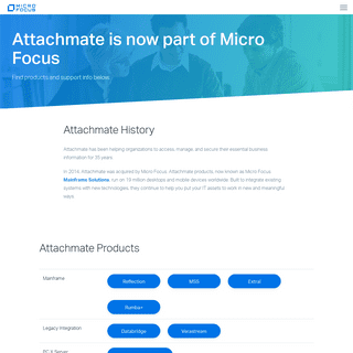 ArchiveBay.com - attachmate.com - Attachmate History and Product Links - Micro Focus