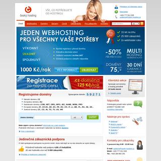 Český hosting- webhosting a registrace domény
