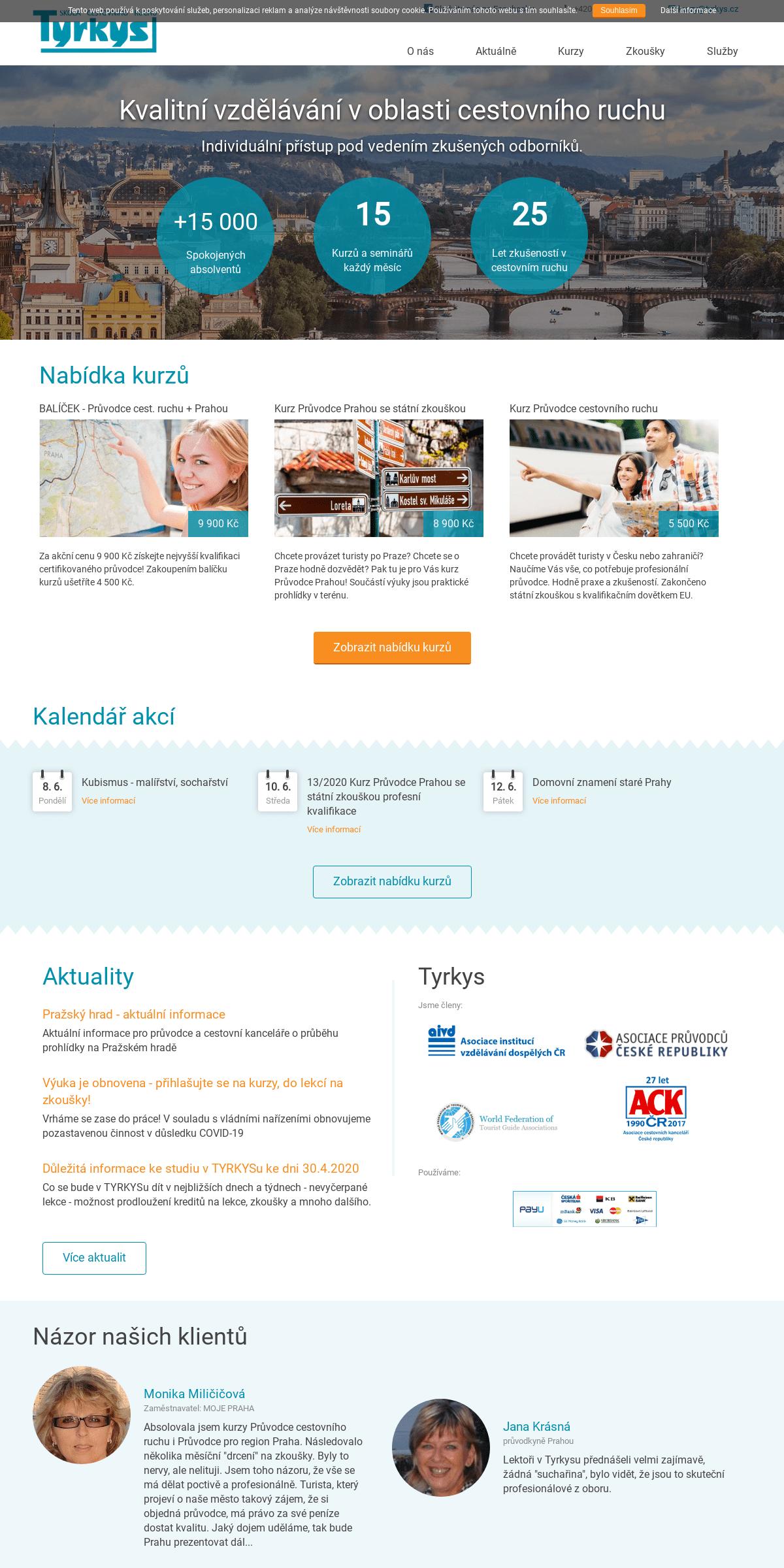 Domácí stránka - TYRKYS, škola cestovního ruchu