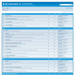 Concept2 Forum - Index page