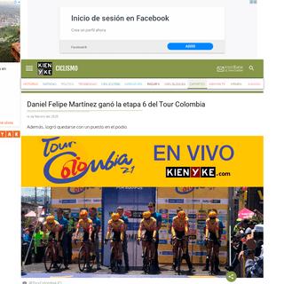 Daniel Felipe Martínez ganó la etapa 6 del Tour Colombia 2.1