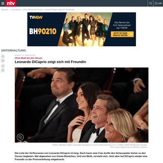 Ohne Mutti bei den Oscars- Leonardo DiCaprio zeigt sich mit Freundin - n-tv.de