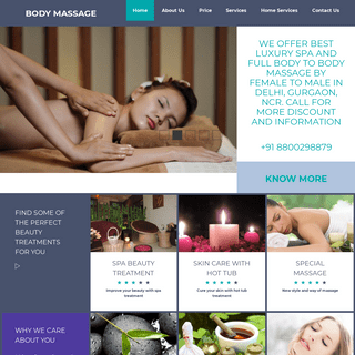 Full Body to Body Massage Parlour & Spa in Delhi, Gurgaon