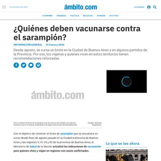 ArchiveBay.com - www.ambito.com/informacion-general/sarampion/quienes-deben-vacunarse-contra-el-sarampion-n5084280 - ¿Quiénes deben vacunarse contra el sarampión- - sarampión, Salud, vacunación