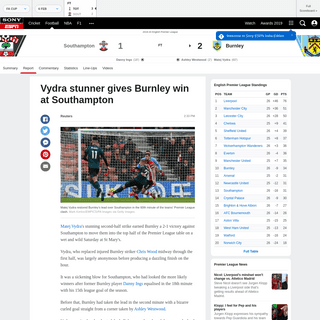 Southampton vs. Burnley - Football Match Report - February 15, 2020 - ESPN