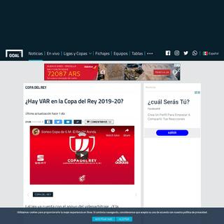 ¿Hay VAR en la Copa del Rey 2019-20- - Goal.com