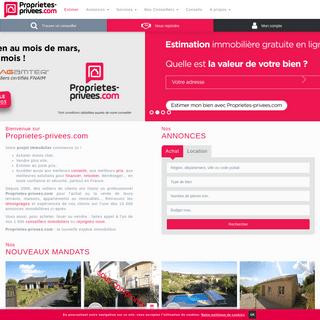 Annonces immobilières et conseils - Proprietes-privees.com