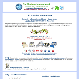 Chi Machine International, Health, Diet, Natural Healing, Medical Device, SOQI