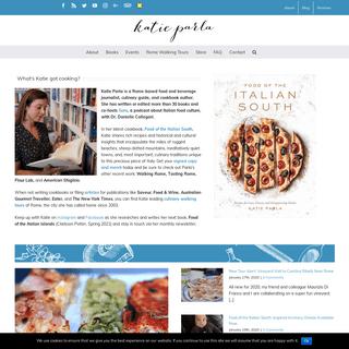 ArchiveBay.com - katieparla.com - Katie Parla, Running Down Food & Drink in Rome and Beyond