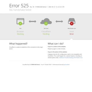 descifrado.com - 525- SSL handshake failed