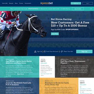 Bet Online Horse Racing - Xpressbet