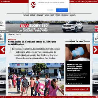 Coronavirus au Maroc - les écoles misent sur la sensibilisation